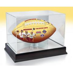 Washington Redskins NFL 100th Legacy Art Football & Display Case
