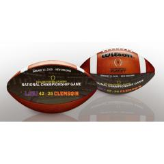 2020 CFP Championship Wilson Art Game Ball