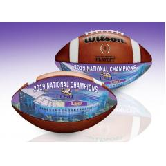 2019 LSU Tigers National Champions Wilson Art Game Ball