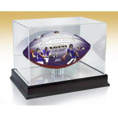 Baltimore Ravens NFL 100th Legacy Art Football & Display Case