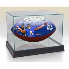Lamar Jackson 2019 NFL MVP Art Football & Display Case
