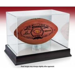 SF 49ers NFC Champions Super Bowl LIV Wilson Duke Game Ball & Case
