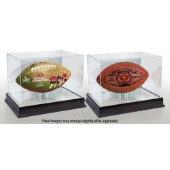 49ers Super Bowl LIV Football Set with Display Cases