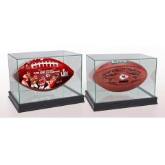 Chiefs Super Bowl LIV Champions Two Ball Set With Display Cases