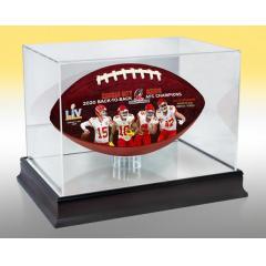 Chiefs AFC Champions Super Bowl LV Art Football & Display Case