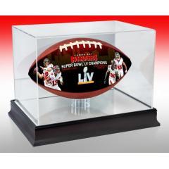 Buccaneers Super Bowl LV Champions Art Football & Display Case